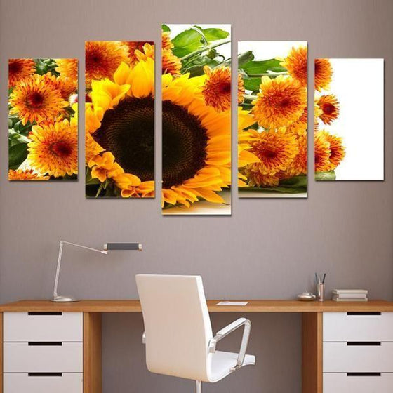 Metal Flowers Wall Art Prints