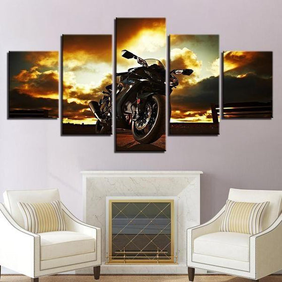 Metal Wall Art Motorcycles Canvases