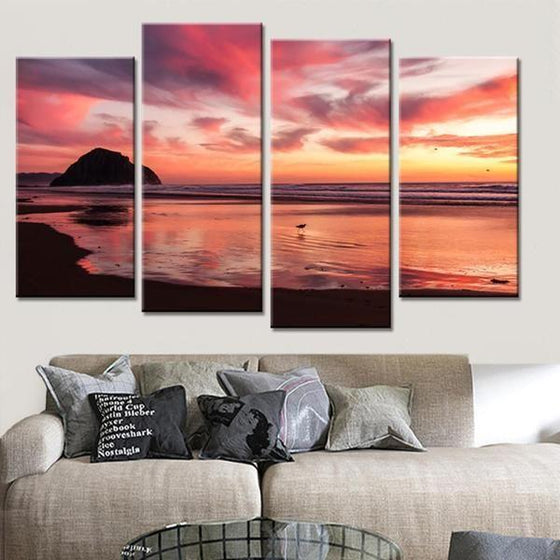 Metal Wall Art Sunset Canvases