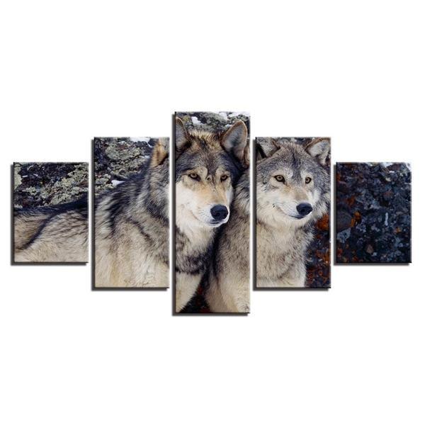 Metal Wall Art Wolves Decors