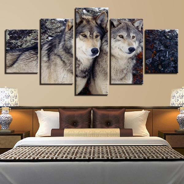 Metal Wall Art Wolves