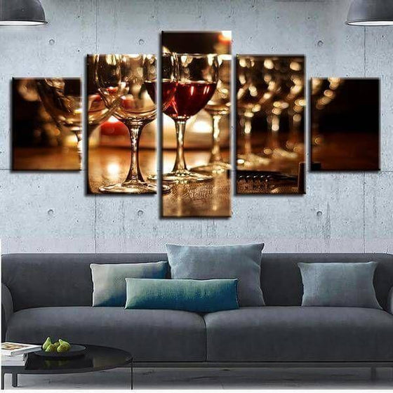 Metal Wine Wall Art Decor