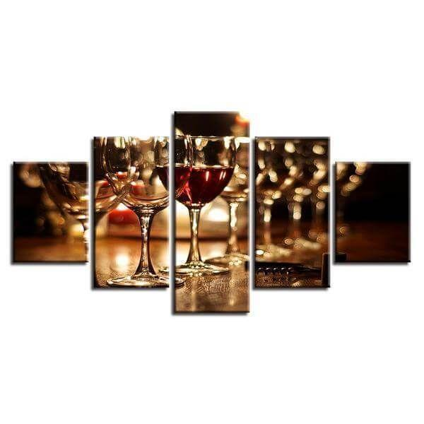 Wine Glass Train Canvas Wall Art | Buy Red Wine Canvas Print ...