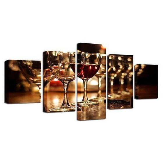Metal Wine Wall Art Print