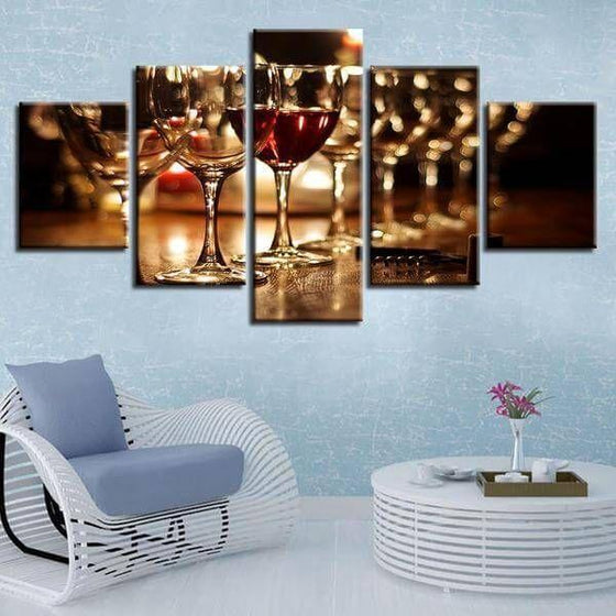 Metal Wine Wall Art