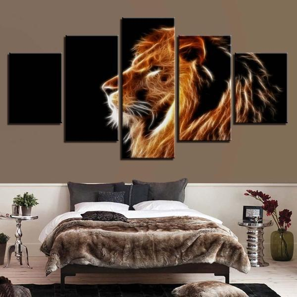 Mighty Lion Wall Art Bedroom