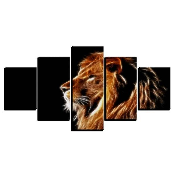 Mighty Lion Wall Art Canvas
