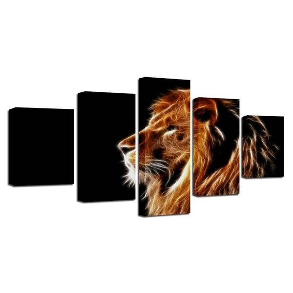 Mighty Lion Wall Art Decor