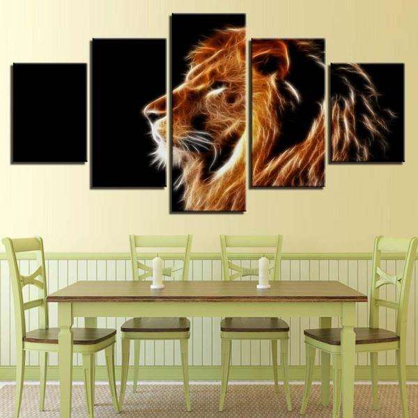 Mighty Lion Wall Art Dining Room