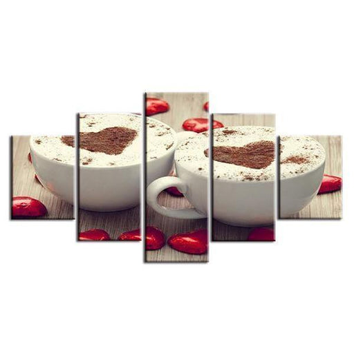 Mochaccino With Heart Canvas Wall Art