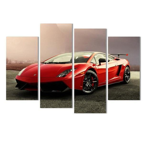 Ferrari Pista Canvas Wall Art | Buy Red Sports Car Art Prints ...