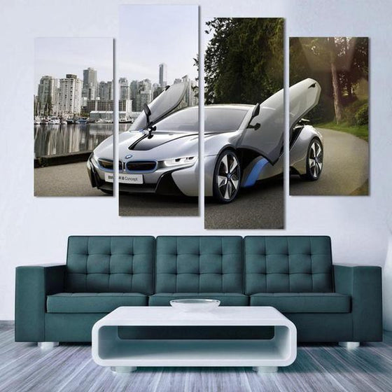 2015 BMW i8 Canvas  Wall Art Living Room