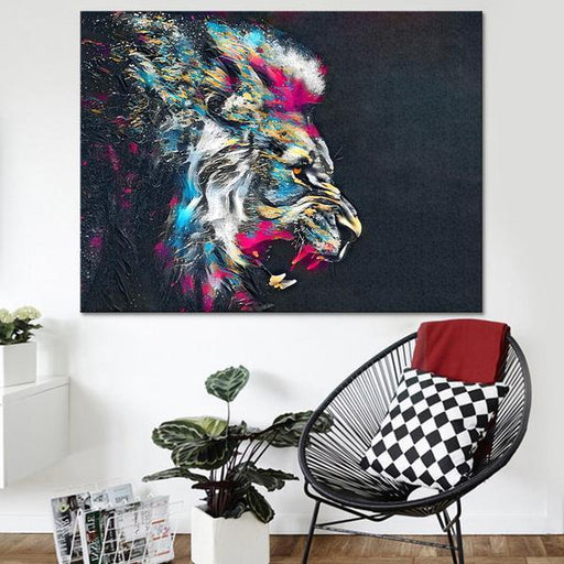 Modern Lion Wall Art