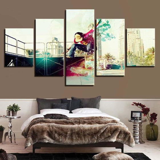 Modern Skateboarder Wall Art Bedroom