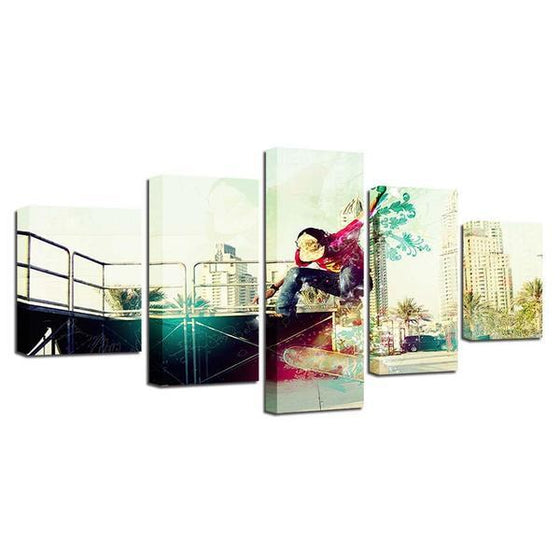 Modern Skateboarder Wall Art Decor
