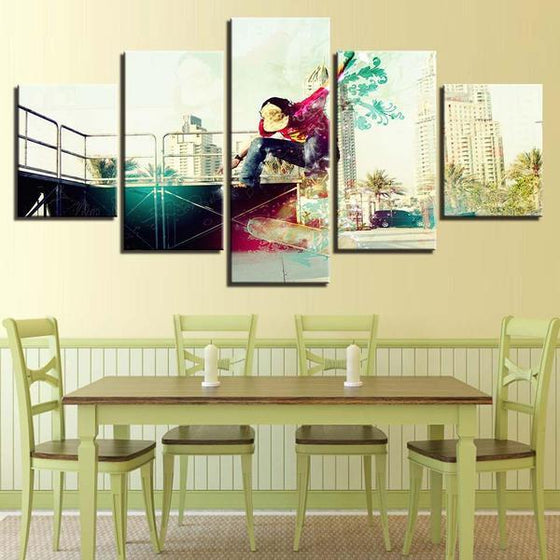 Modern Skateboarder Wall Art Dining Room
