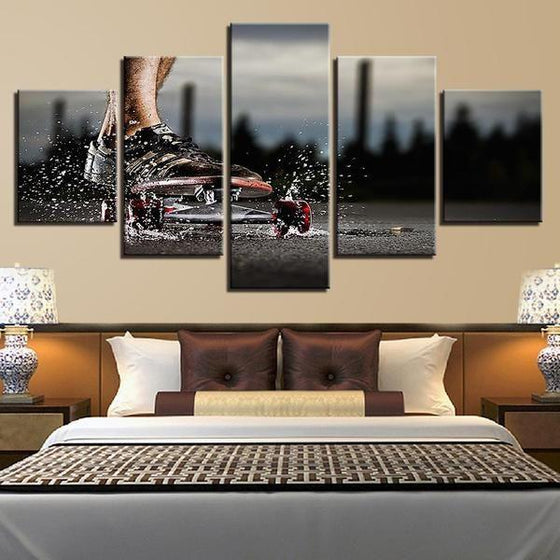Modern Sports Themed Wall Art Idea