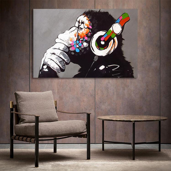 Thinking Monkey Inspired Wall Art Print
