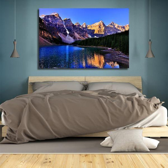 Moraine Lake And Mountains Wall Art Bedroom