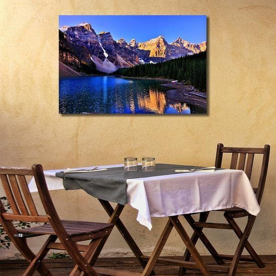 Moraine Lake And Mountains Wall Art Dining Room