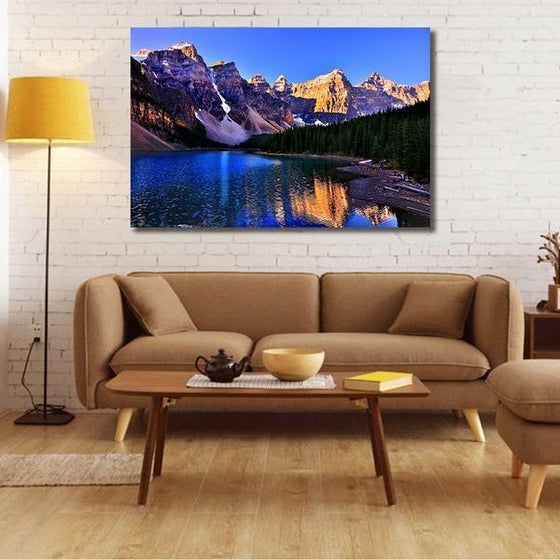 Moraine Lake And Mountains Wall Art Living Room