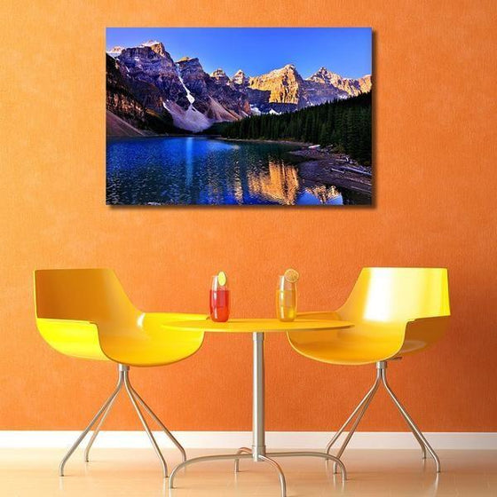 Moraine Lake And Mountains Wall Art Print