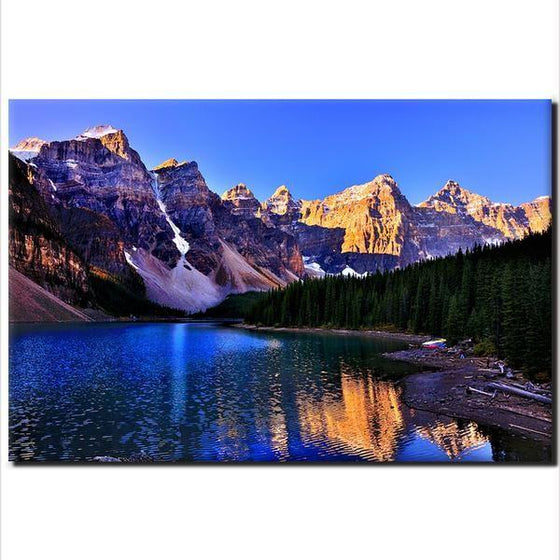 Moraine Lake And Mountains Wall Art