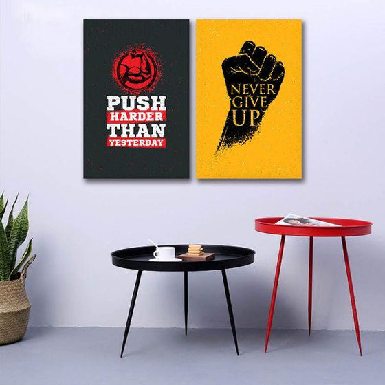 Motivational Quotes Canvas Wall Art Decor