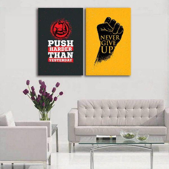 Motivational Quotes Canvas Wall Art Living Room