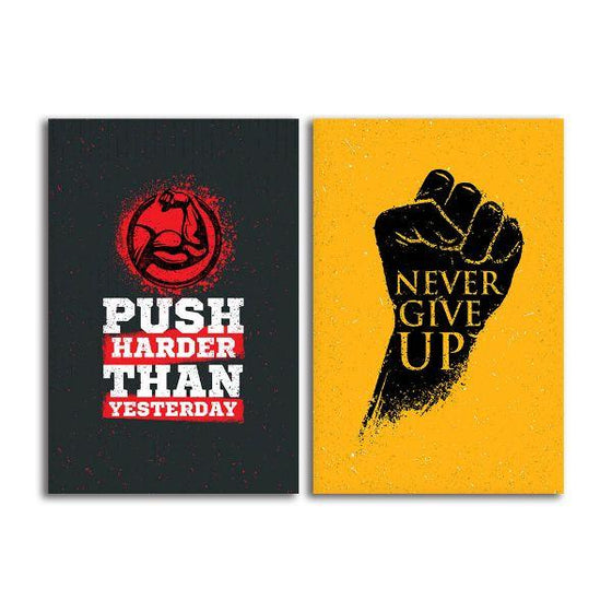 Motivational Quotes Canvas Wall Art