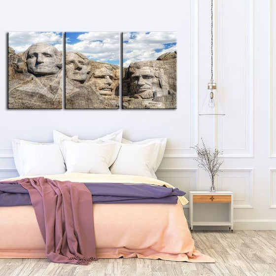 Mount Rushmore 3 Panels Canvas Wall Art Bedroom