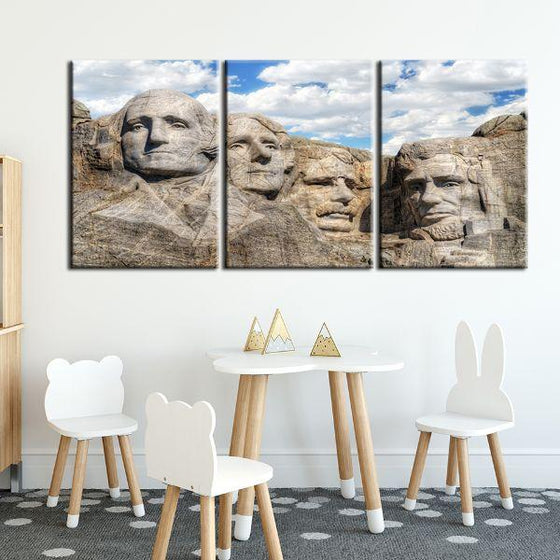 Mount Rushmore 3 Panels Canvas Wall Art Decor