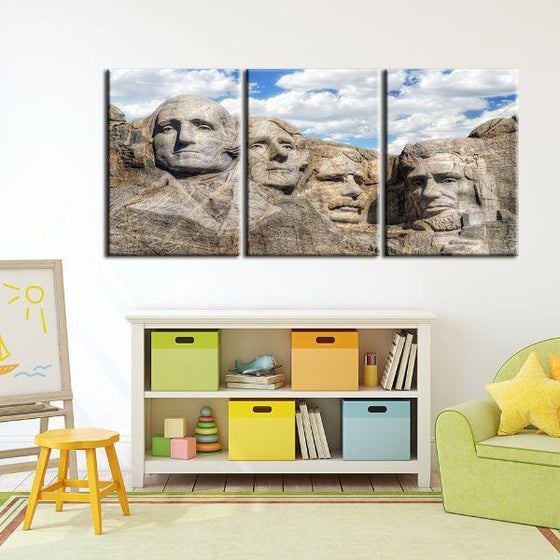 Mount Rushmore 3 Panels Canvas Wall Art Set