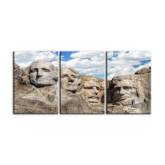 Mount Rushmore 3 Panels Canvas Wall Art