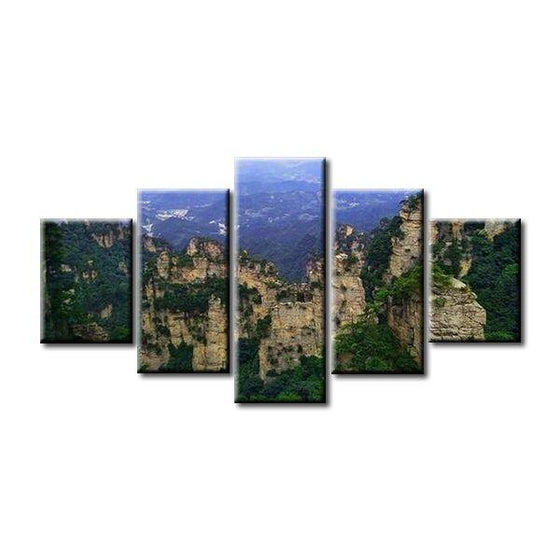 Mountain Range Canvas Wall Art