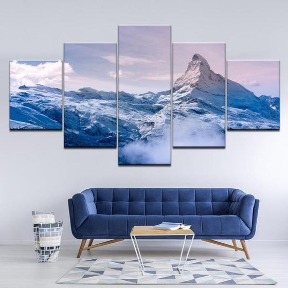 Frozen Mountain Canvas Art Decor