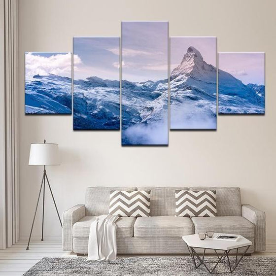 Frozen Mountain Canvas Art Office