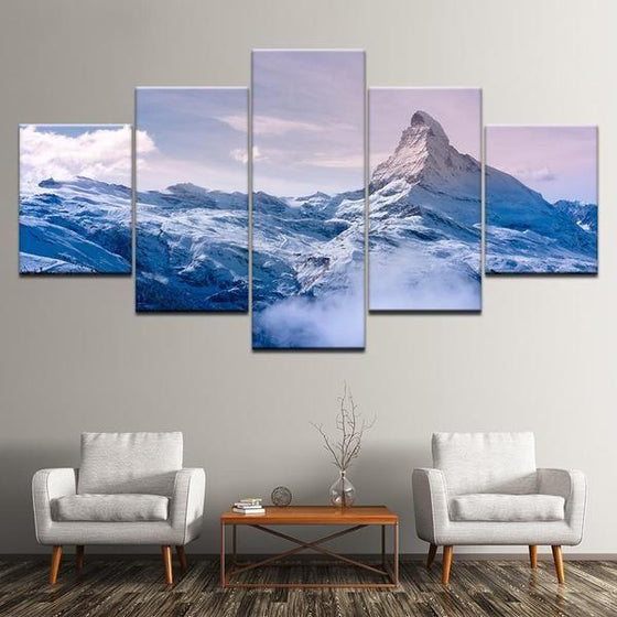 Frozen Mountain Canvas Art Prints