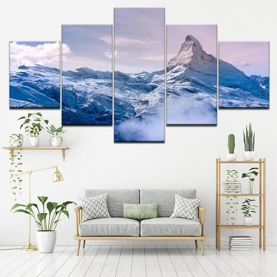 Frozen Mountain Canvas Art Living Room