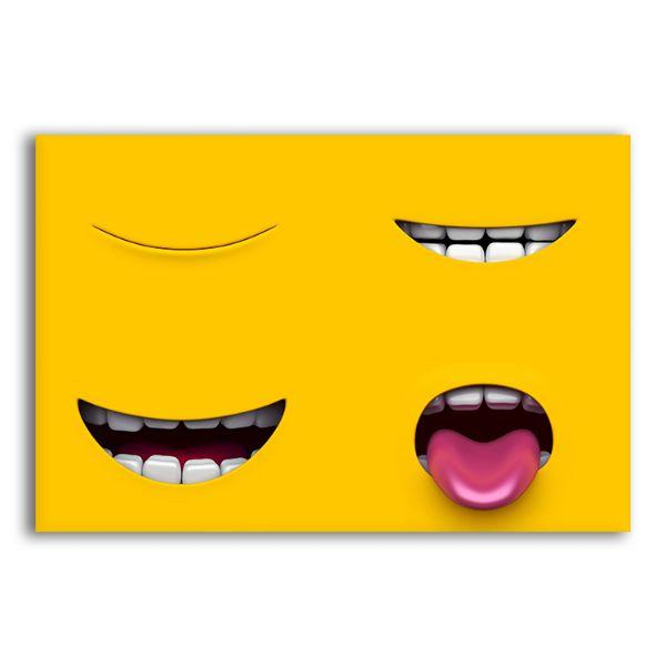 Mouth Of A Yellow Character Canvas Wall Art