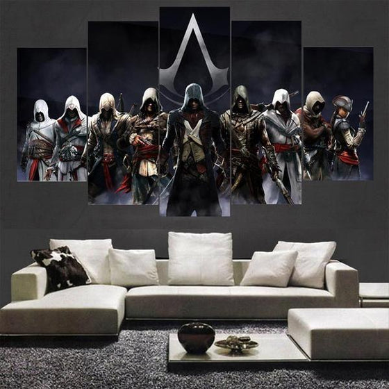 Assassins Creed Characters Inspired Canvas Wall Art Living Room Decor