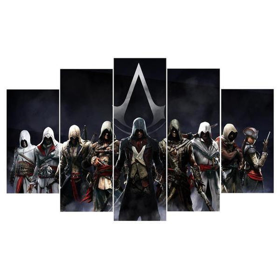 Assassins Creed Characters Inspired Canvas Wall Art