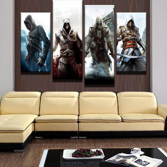 Assassins Creed Four Characters Inspired Canvas Wall Art Decor