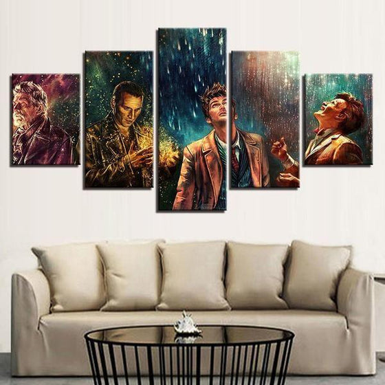 Doctor Who Movie Inspired Characters Canvas Wall Art