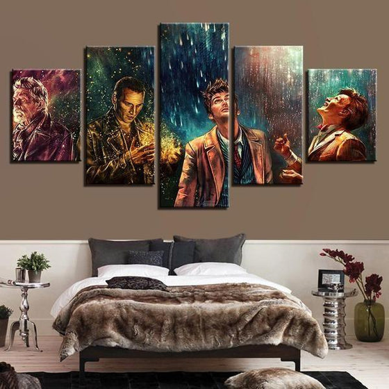Doctor Who Movie Inspired Characters Canvas Wall Art Bedroom