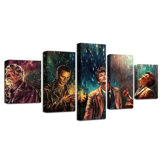 Doctor Who Movie Inspired Characters Canvas Wall Art Prints