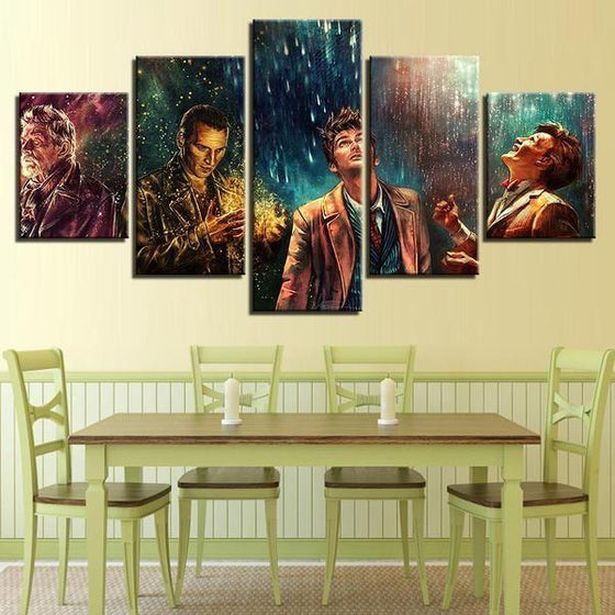Doctor Who Movie Inspired Characters Canvas Wall Art Dining Room