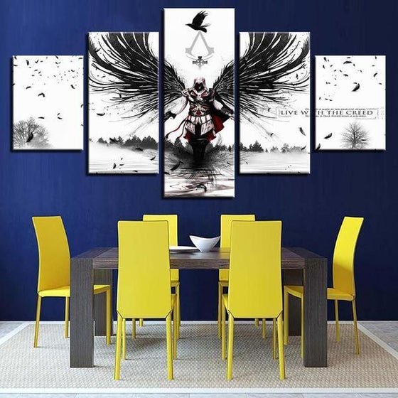 Assassins Creed Inspired Graphic Canvas Wall Art Dining Room