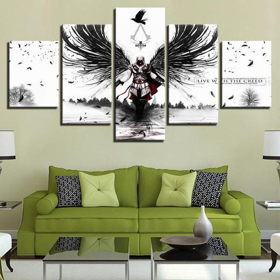 Assassins Creed Inspired Graphic Canvas Wall Art Living Room