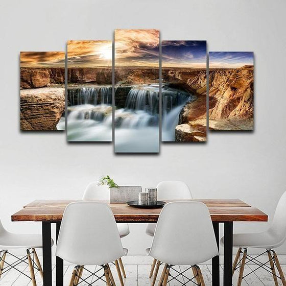 Moving Waterfall Wall Art Canvas